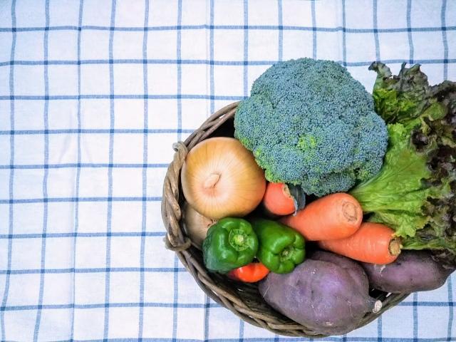 かごの中の野菜